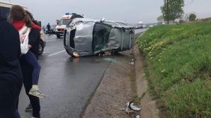 Accident extrem de grav în județul Iași: Un copil încarcerat, mai multe persoane rănite