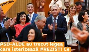 """Sputnik aplaudă """"legea care isterizează #Rezist"""""""