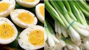 Ce se întâmplă în corpul tău dacă mănânci ouă fierte cu ceapă verde