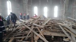 Sibiu: Schelă prăbușită peste un bărbat care lucra la ridicarea unei biserici