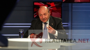 Traian Băsescu, în studioul Realitatea TV. Foto: Cristian Otopeanu