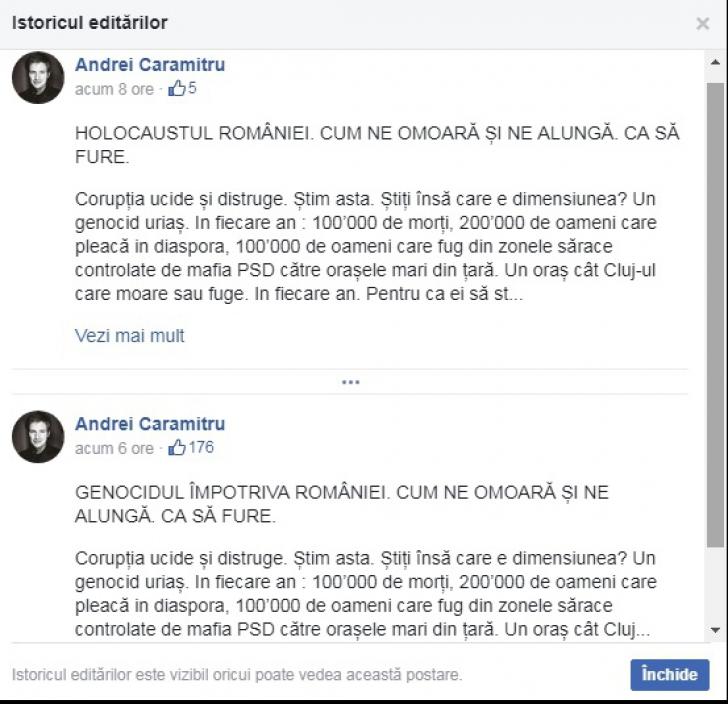 Ambasadorul Israelului, dezamăgit de comentariile lui Andrei Caramitru
