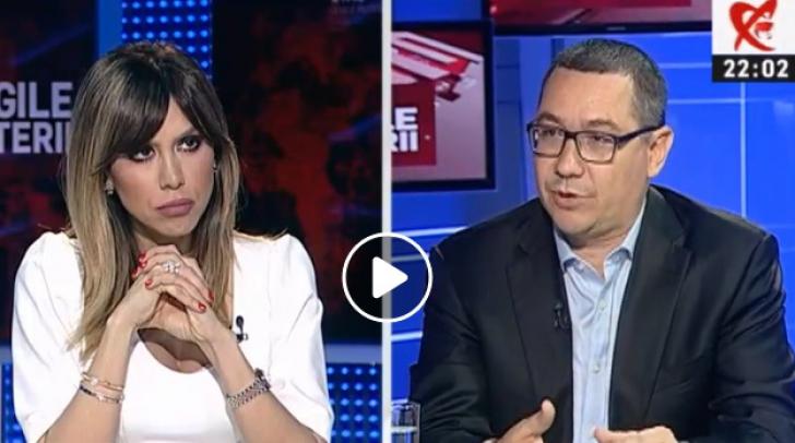 Victor Ponta, față în față cu Denise Rifai