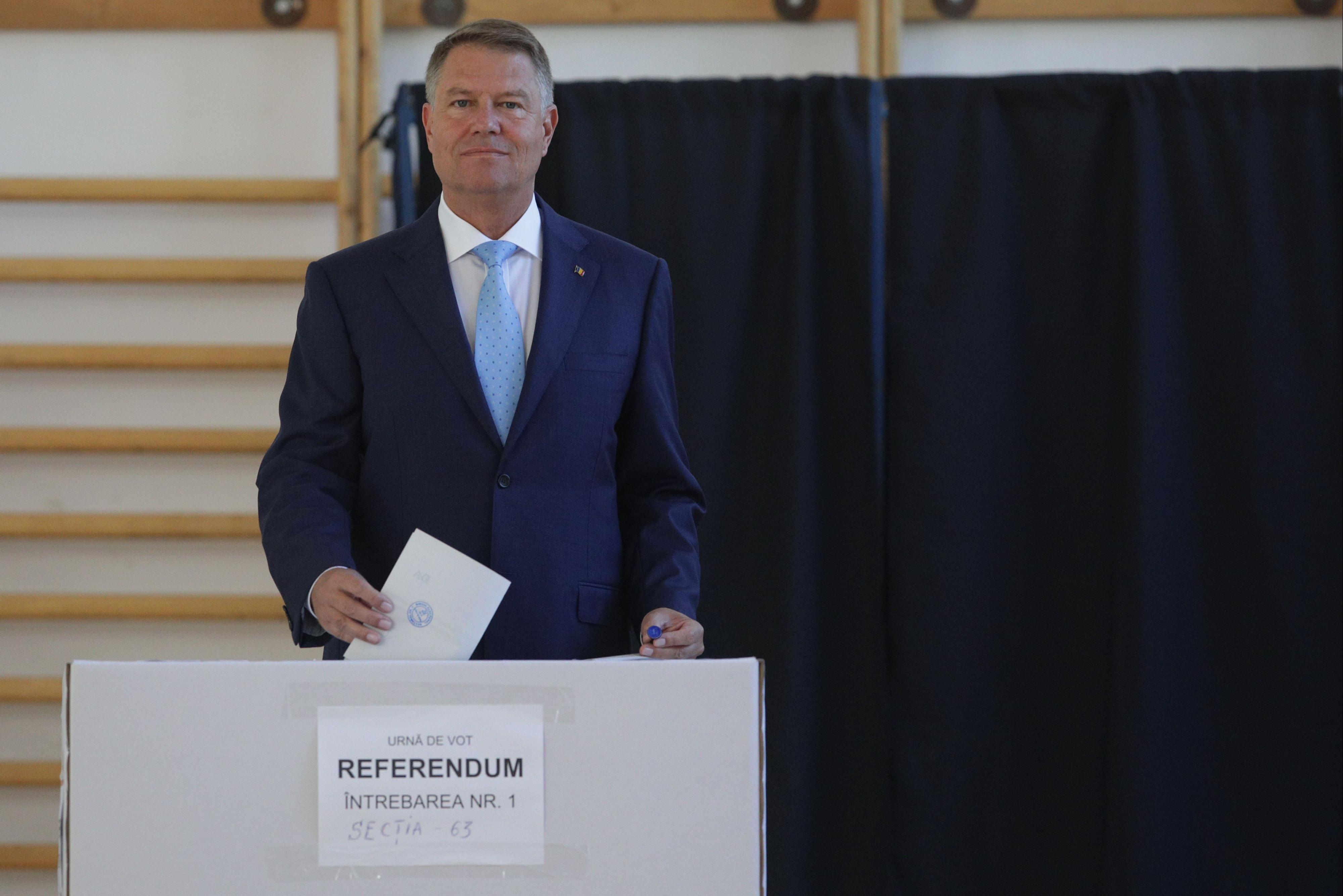 Alegeri europarlamentare 2019. Klaus Iohannis, la vot. ANUNȚ de ultimă oră, după ce a votat / Foto: Inquam Photos / Octav Ganea