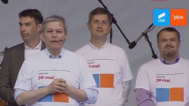 Miting USR PLUS București 24 mai 2019