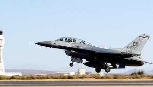 Avion F16, prăbușit peste o clădire, în SUA