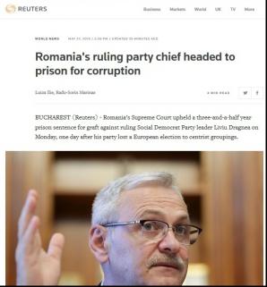 Dragnea la Reuters