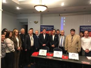 Președintele UNPR Gabriel Oprea şi candidaţii la europarlamentare,tur al organizaţiilor din Muntenia