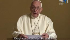 Papa Francisc, mesaj pentru romani