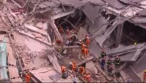 Clădire prăbușită în Shanghai