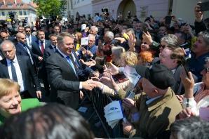 Liderii europeni, baie de mulțime la Sibiu