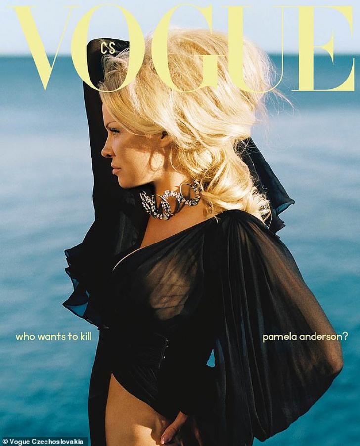 Pamela Anderson, premieră pe coperta unei reviste celebre, pozată de un român