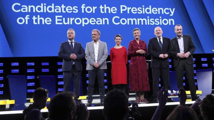 Europarlamentare 2019. Candidații pentru șefia Comisiei UE s-au ciocnit într-o dezbatere televizată
