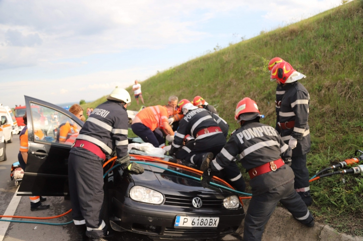 Femeie decapitată într-un accident rutier, în județul Giurgiu. Imagini cumplite
