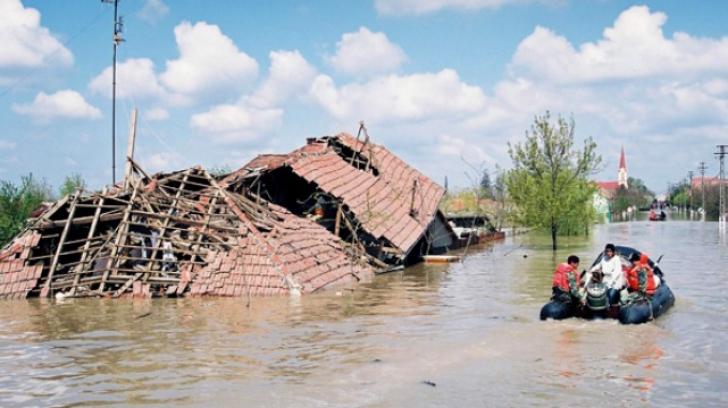 Cod galben de inundații, pe 8 județe din România