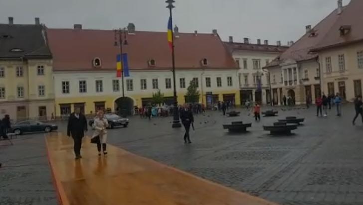Klaus Iohannis, în inspecţie la Sibiu pentru summitul UE (VIDEO)