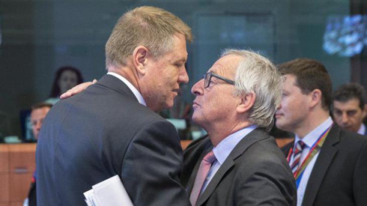 """Iohannis: """"Nu sunt mulțumit de anumite lucruri din UE"""". Junker: """"Nici eu de unele din România!"""""""