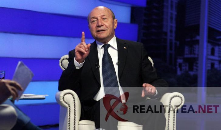 <p>Traian Basescu, la Realitatea TV. Foto: Cristian Otopeanu</p>