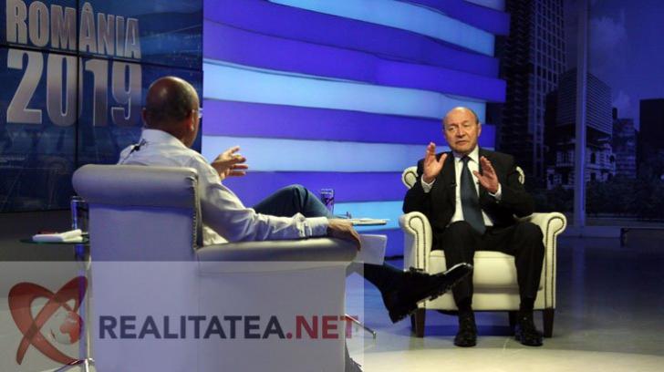 Cozmin Gușă, față în față cu Traian Băsescu. Foto: Cristian Otopeanu