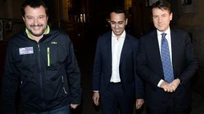 Matteo Salvini, Luigi di Maio și Giuseppe Conte