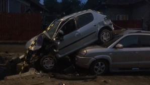 Accident rutier spectaculos, la Cluj, provocat de un minor beat