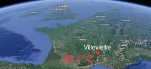 Temperatura-record în Franța