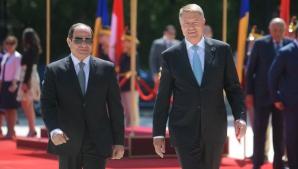 Klaus Iohannis alături de președintele Egiptului, Abdel Fattah El-Sisi