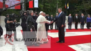 Klaus Iohannis si Papa Francisc, la Cotroceni. Foto: Cristian Otopeanu