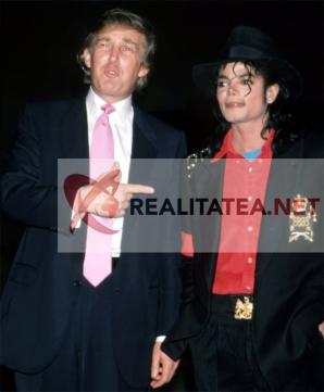 Michael Jackson si Donald Trump in aprilie 1990. Arhiva: Cristian Otopeanu