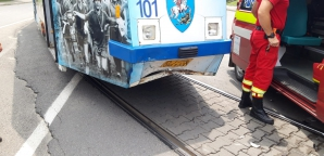 Accident tramvai la Craiova