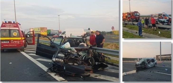 UPDATE: Şoferul care a ucis trei oameni, între care un copil, a fost prins (GALERIE FOTO)
