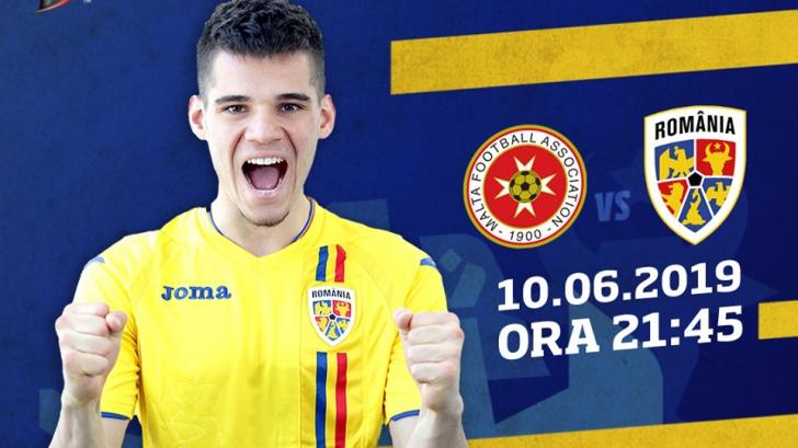 România câștigă cu 4-0 în Malta și ajunge din urmă Suedia în clasamentul grupei