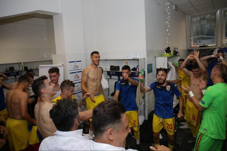 Bucurie imensă în vestiarul 'tricolorilor' după victoria cu Anglia