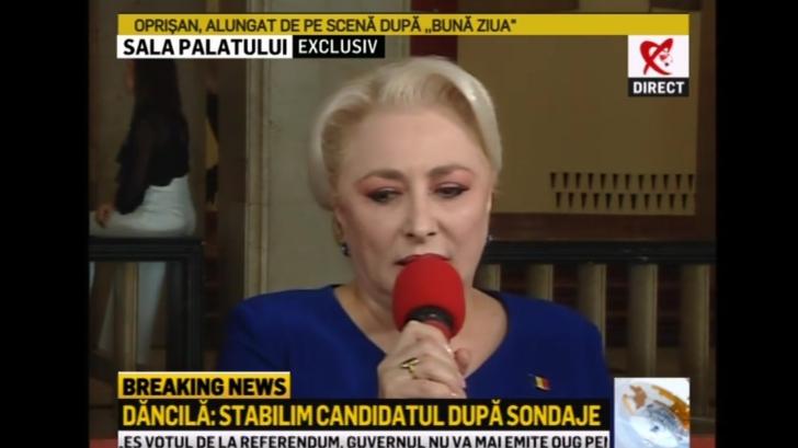 Viorica Dăncilă a vorbit pentru Realitatea TV. Ce-a spus despre candidatura la președinție