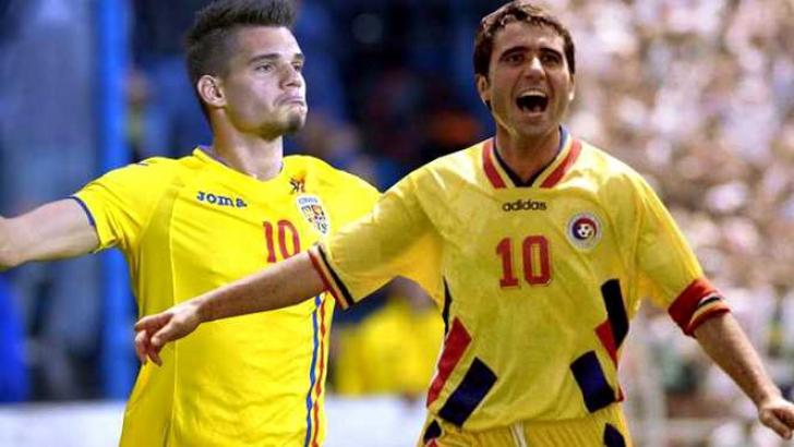 Romania - Croatia U21: 4-1. Gică Hagi, surprins într-o imagine incredibilă în tribune