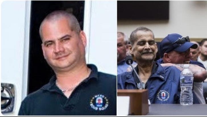 Luis Alvarez, in doua imagini oferite de presa americana. In stanga, in timpul unei misiuni. In dreapta, in ultimele luni de viata