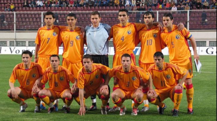 <p>Echipa de start a Romaniei la istoricul 5-1 cu Germania din aprilie 2004</p>