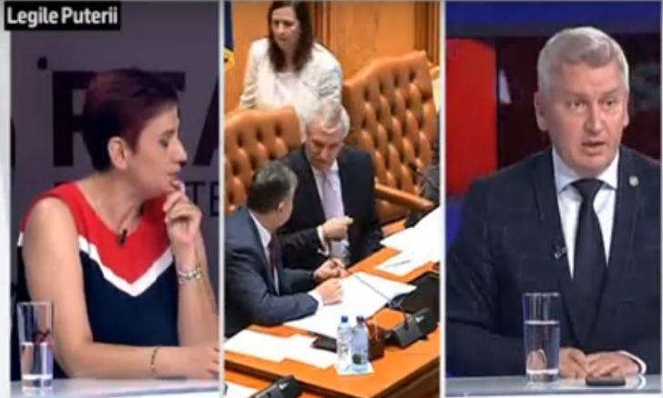 Scandal în platoul Realitatea TV, între Ioana Ene Dogioiu şi Florin Roman (VIDEO)