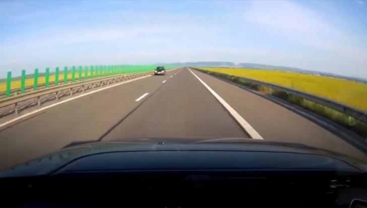 VIDEO | Şoferiţă filmată conducând pe contrasens pe Autostrada A3