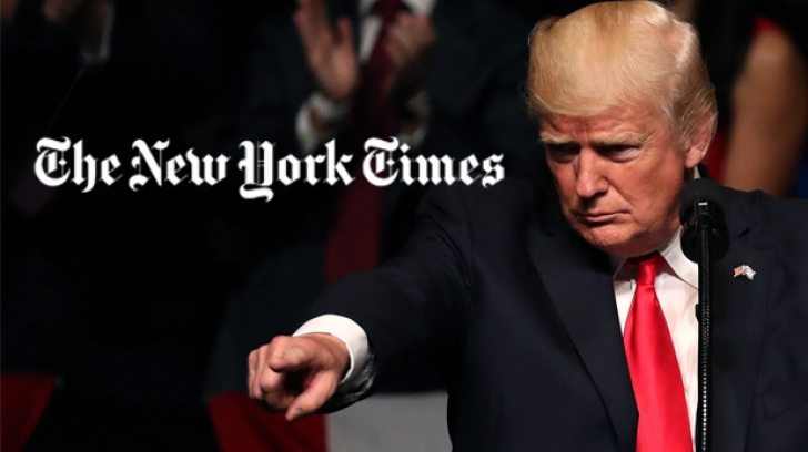 Trump, supărat pe NYT
