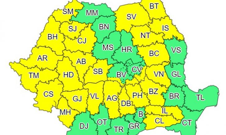 Vremea extremă lovește din nou în România, după un scurt respiro