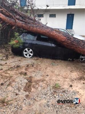 O furtună puternică a lovit regiunea Halkidiki