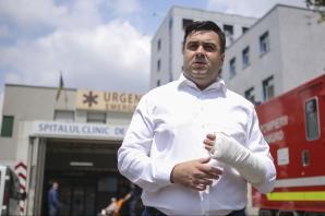 Răzvan Cuc, prima reacție după accidentul rutier în care a fost implicat. FOTO de la spital
