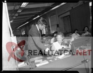 John F Kennedy in 1958. Imagine scanată de pe negativul original. Arhiva: Cristian Otopeanu