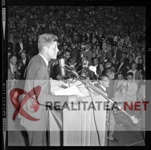 John F Kennedy in 1962. Imagine scanată de pe negativul original. Arhiva: Cristian Otopeanu