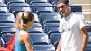 Simona Halep si Federer