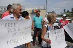 Protest la Rahova pentru eliberarea lui Dragnea