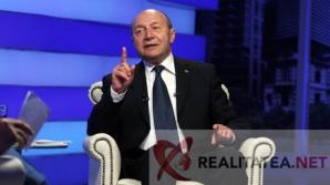 Traian Basescu in studioul Realitatea TV. Foto: Cristian Otopeanu