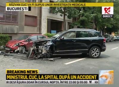 Răzvan Cuc, implicat într-un accident rutier. Ministrul Transporturilor, dus de urgență la Floreasca