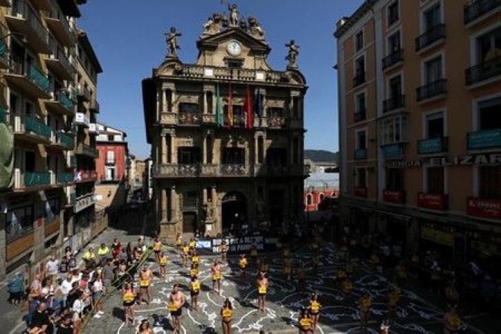 Protest la Pamplona